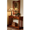 Mission Craftsman Oak Console Entry Table & Mirror
